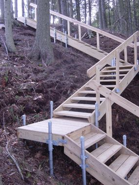 Accessories Wood Frame Stairs Boat Docks Green Thumb Outdoors
