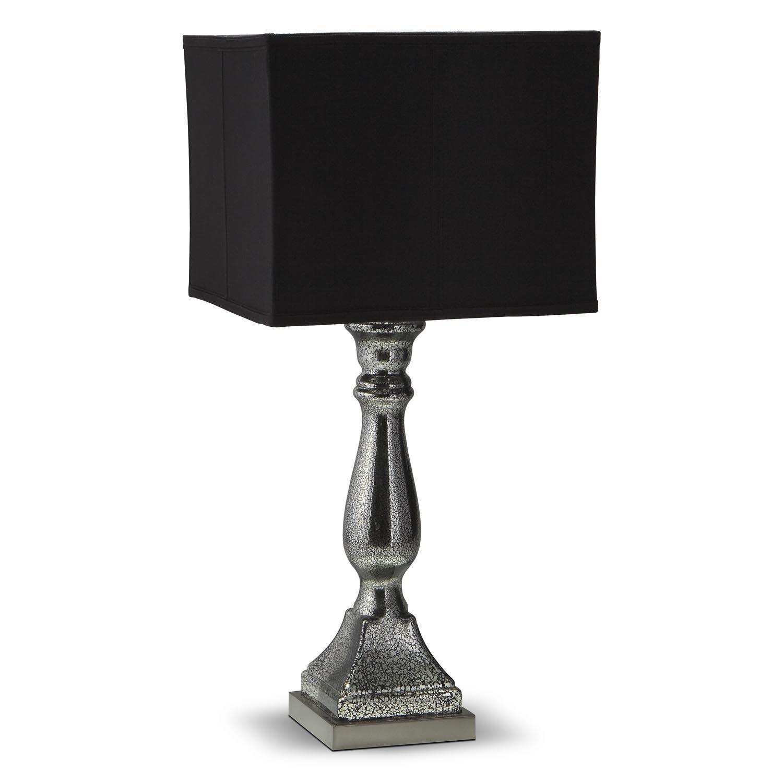 Silver Black Mercury Table Lamp   Value City Furniture
