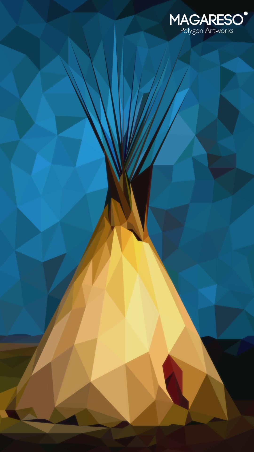 """ Native American Tipi "" #Polygon"