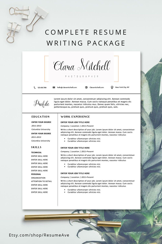 Orange Cv Template Professional Teacher Resume Template Word Etsy Teacher Resume Template Resume Template Cover Letter For Resume