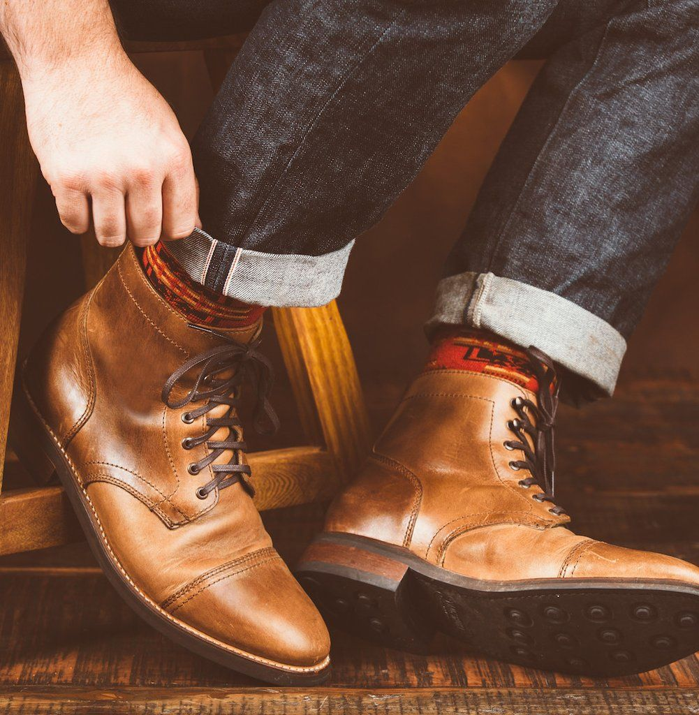 Natural Horween Chromexcel leather boots. Classic captoe