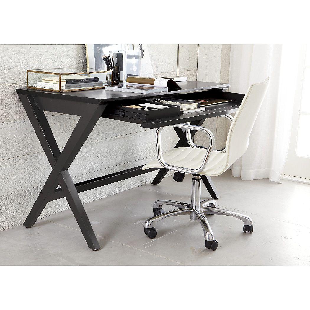 Spotlight Ebony 48 Quot Writing Desk Homes Desk Campaign