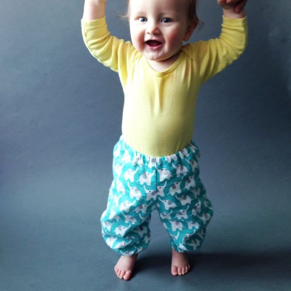 Pants for cloth diapered baby
