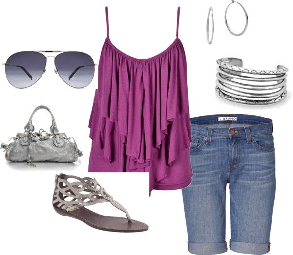 silver and purple, created by carla-knepper on Polyvore