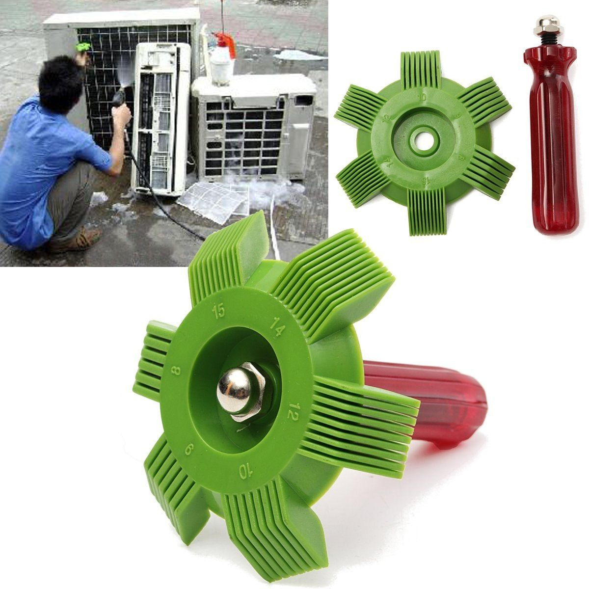 Universal Car A/C Radiator Condenser Fin Comb Air