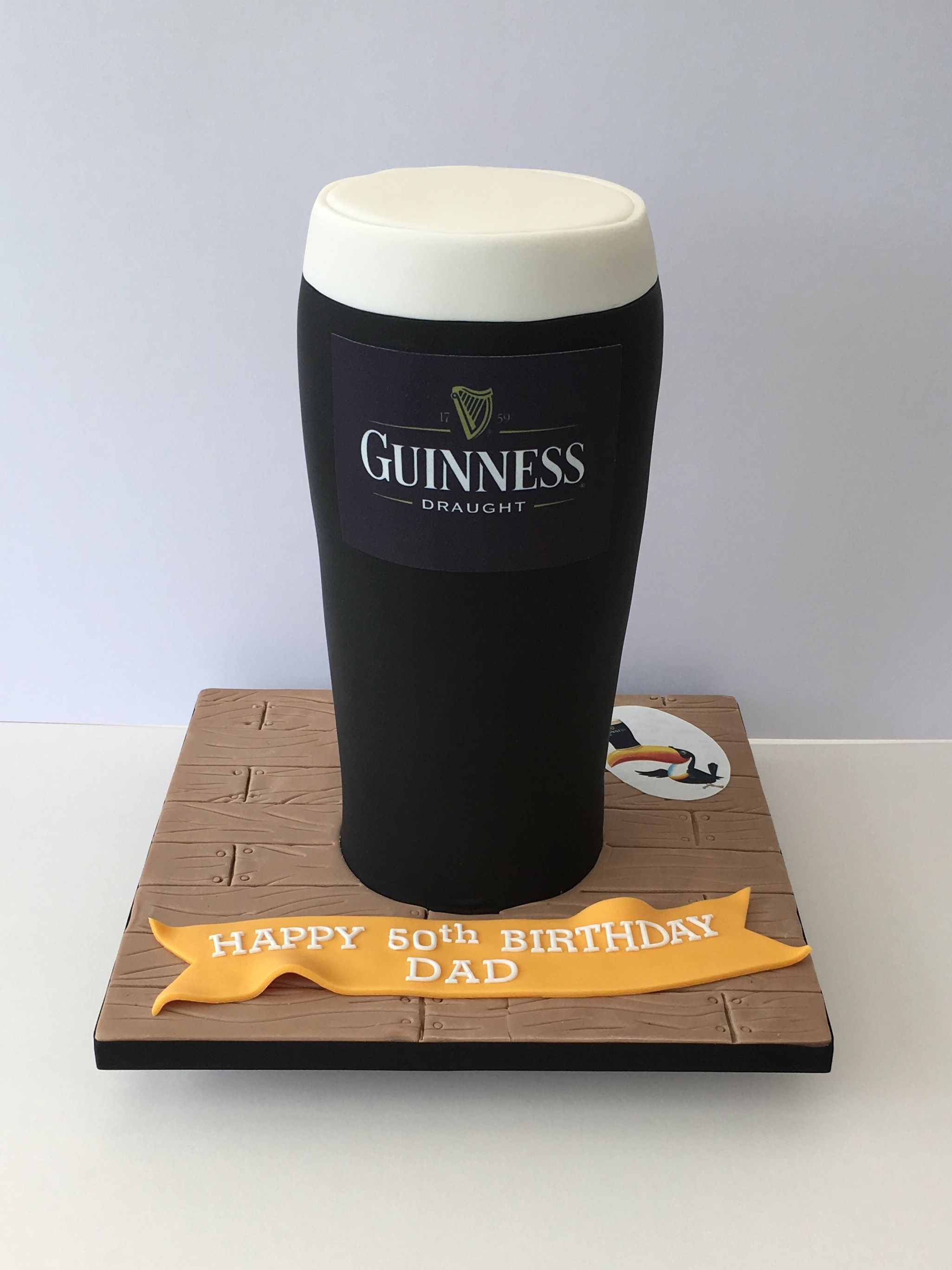Brilliant Guinness 3D Cake With Images Birthday Cake Beer Guiness Cake Birthday Cards Printable Benkemecafe Filternl