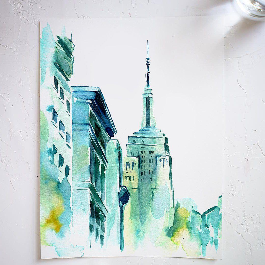 Blue Buildings Watercolor Kit Watercolor Kit Let S Make Art
