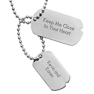 Personalized Urban Double Dog Tags With Free Keepsake Box Add Your Message Dog Tags Dog Tag Necklace Tags