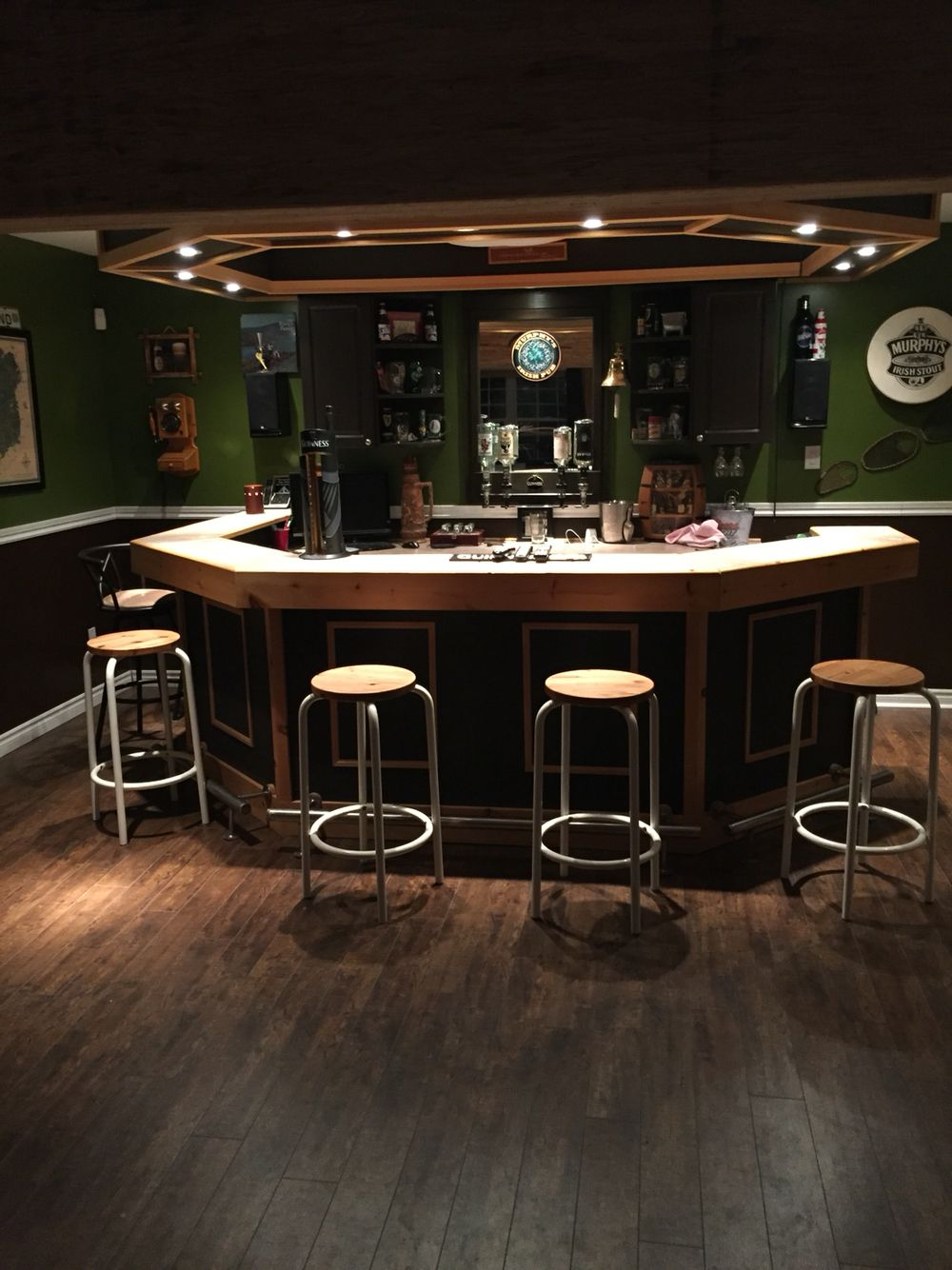 My Irish Pub Bar | Deck, Bar,Backyard, Basement Ideas | Pinterest ...