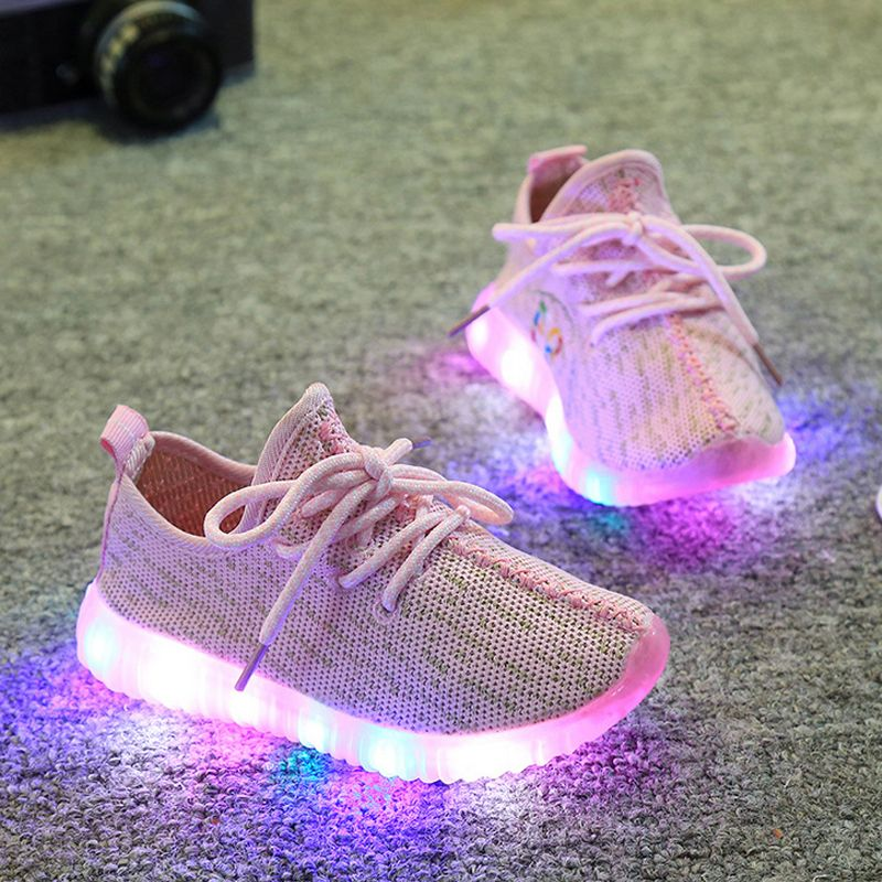 b4134f9ef4c3f C  14.62 Pas cher Kids Shoes With Light 2016 Spring Baby Boys Girls Shoes  Chaussure Led Enfant Child Fashion Breathable Boys Sneakers Size 21 35