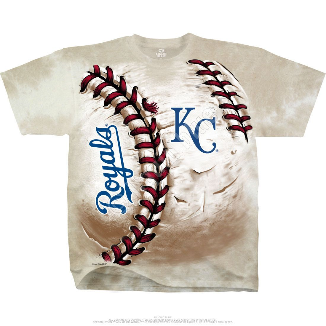 Kansas City Royals Hardball Tie Dye T Shirt Tie Dye T