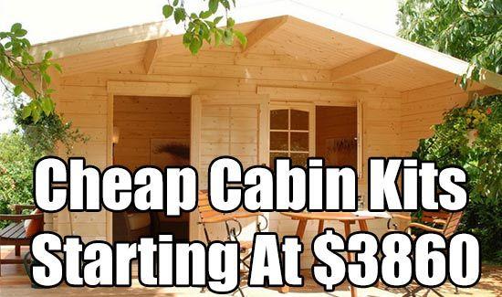 Cheap Cabin Kits Starting At 3860 Diy cabin Cabin kits and Shelter