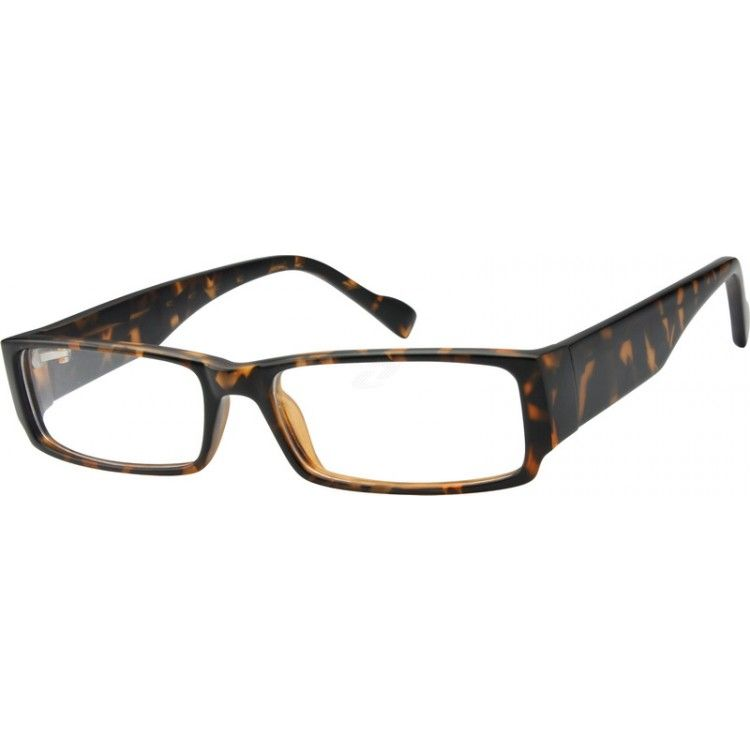 Clean and sophisticated, this plastic full-rim frame features ...