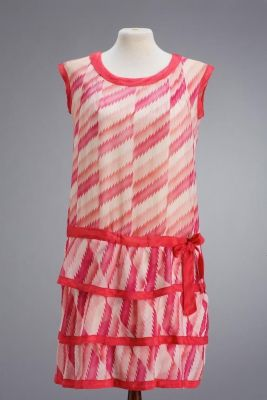 ca 1925 party dress I like how the fabric is used in strips and not matched