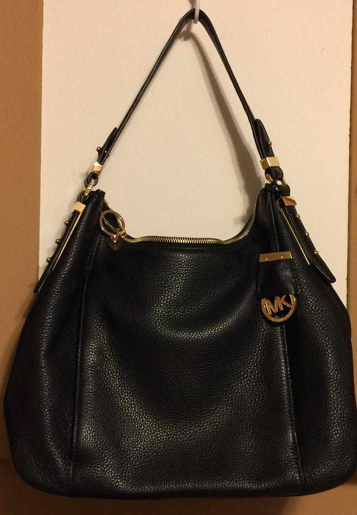 cf8ca45bf9 Michael Kors like new slouch style hobo handbag in black leather ...