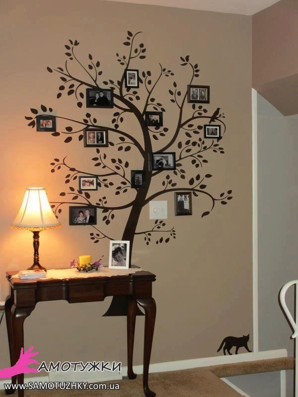 Сімейне дерево на стіні. 15 ідей для втілення | Украшение ...
