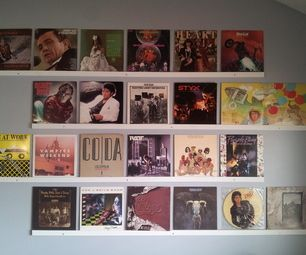 Hang Up Your Old Vinyl Records Old Vinyl Records Vinyl Record Display Record Wall Display