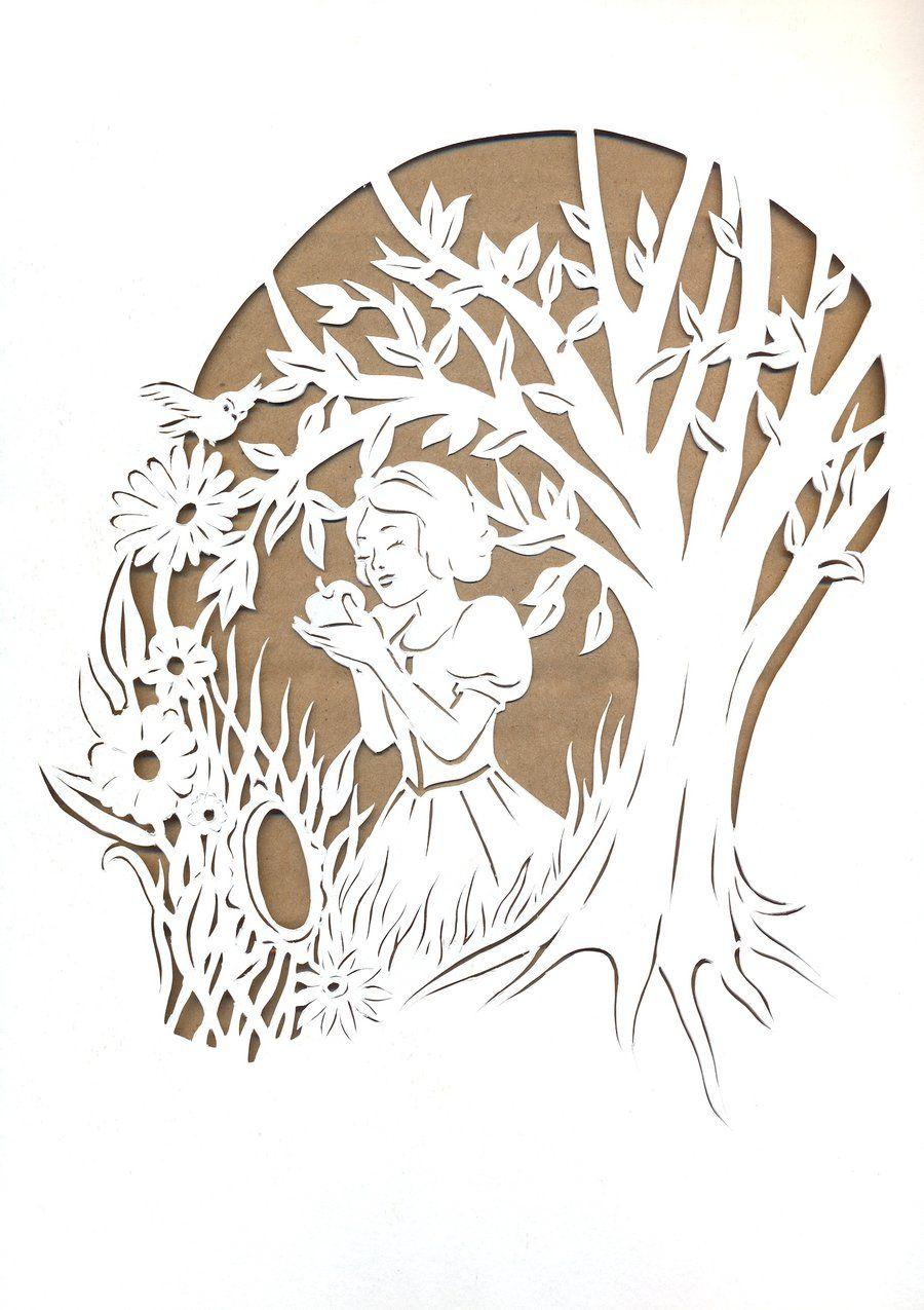 Snow White Papercutting by Rose-Ann-Mary-K.deviantart.com on @DeviantArt