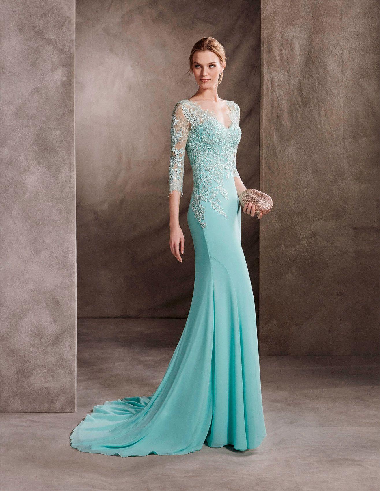Vestido de festa longo azul   Vestidos de noche, Noche y Vestiditos