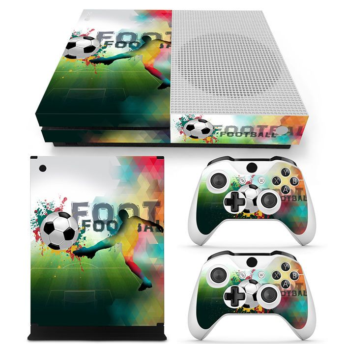 Details About Xbox One S Console Skin Decal Sticker Football Soccer 2 Controller Custom Set Xbox One S Xbox One Decals Stickers