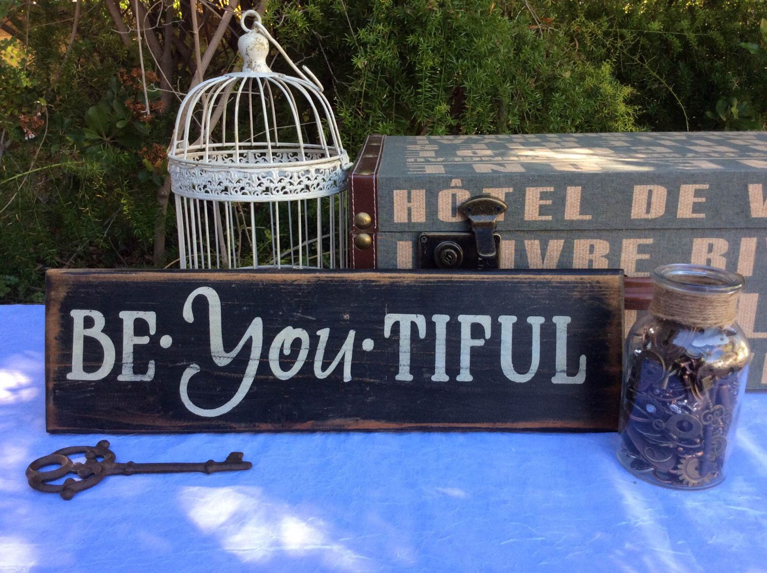 """Rustic, Vintage, Wood """"Be-You-Tiful"""" Sign by UpcycledBlessings on Etsy (null)"""