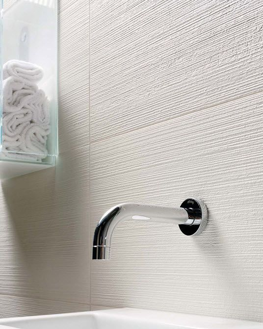 Textured White Tile
