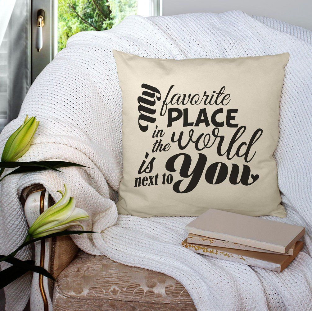 Love Pillow For Her Pillow With Sayings Quote Pillow Printed Cushion White Or Cream Decorative Pillow Valentine For Him With Images Poduszka