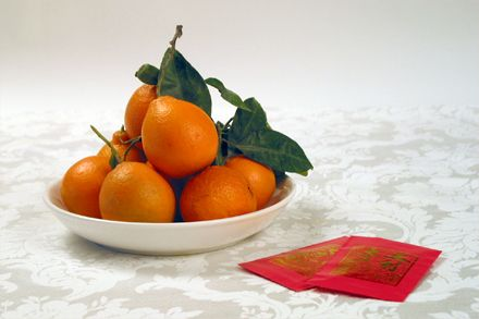 Chinese New Year Symbols Oranges And Tangerines Hot Pot Traditional Chinese Food Chinese New Year