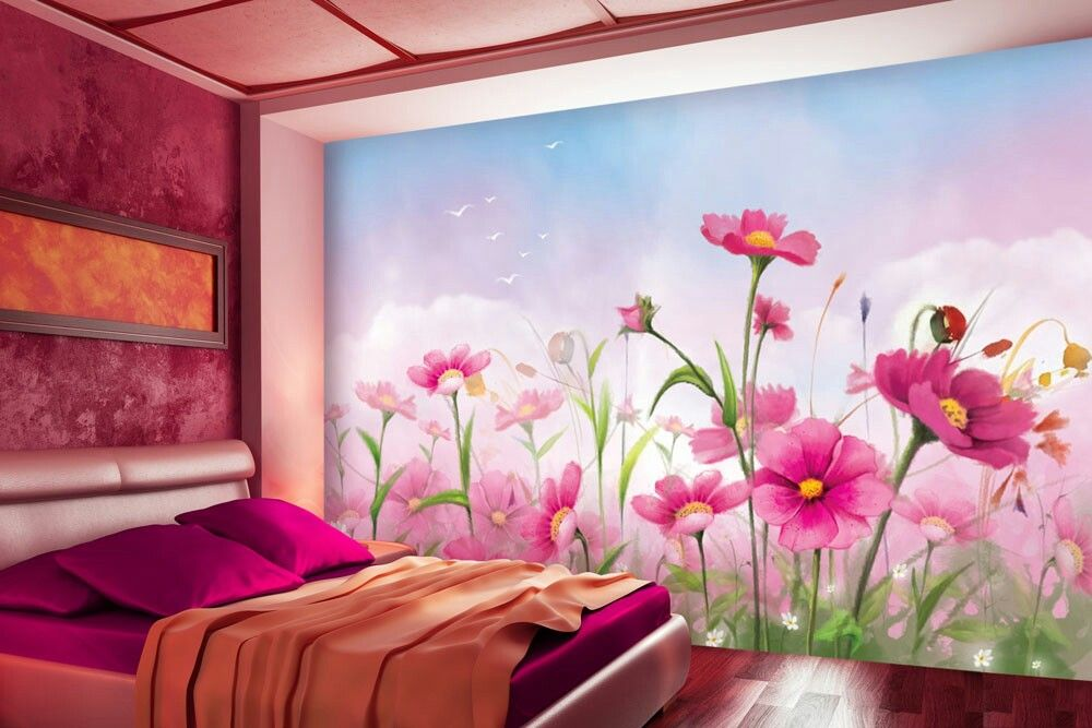 Beautiful Floral Garden Wall Mural   Floral Wallpapers   Pinterest ...
