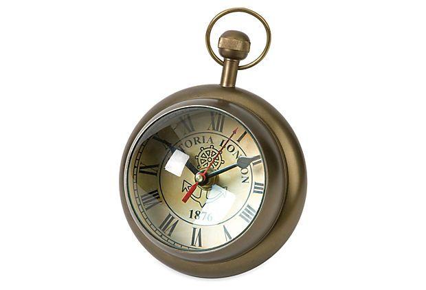 "8"" Barton Paperweight Clock on OneKingsLane.com"