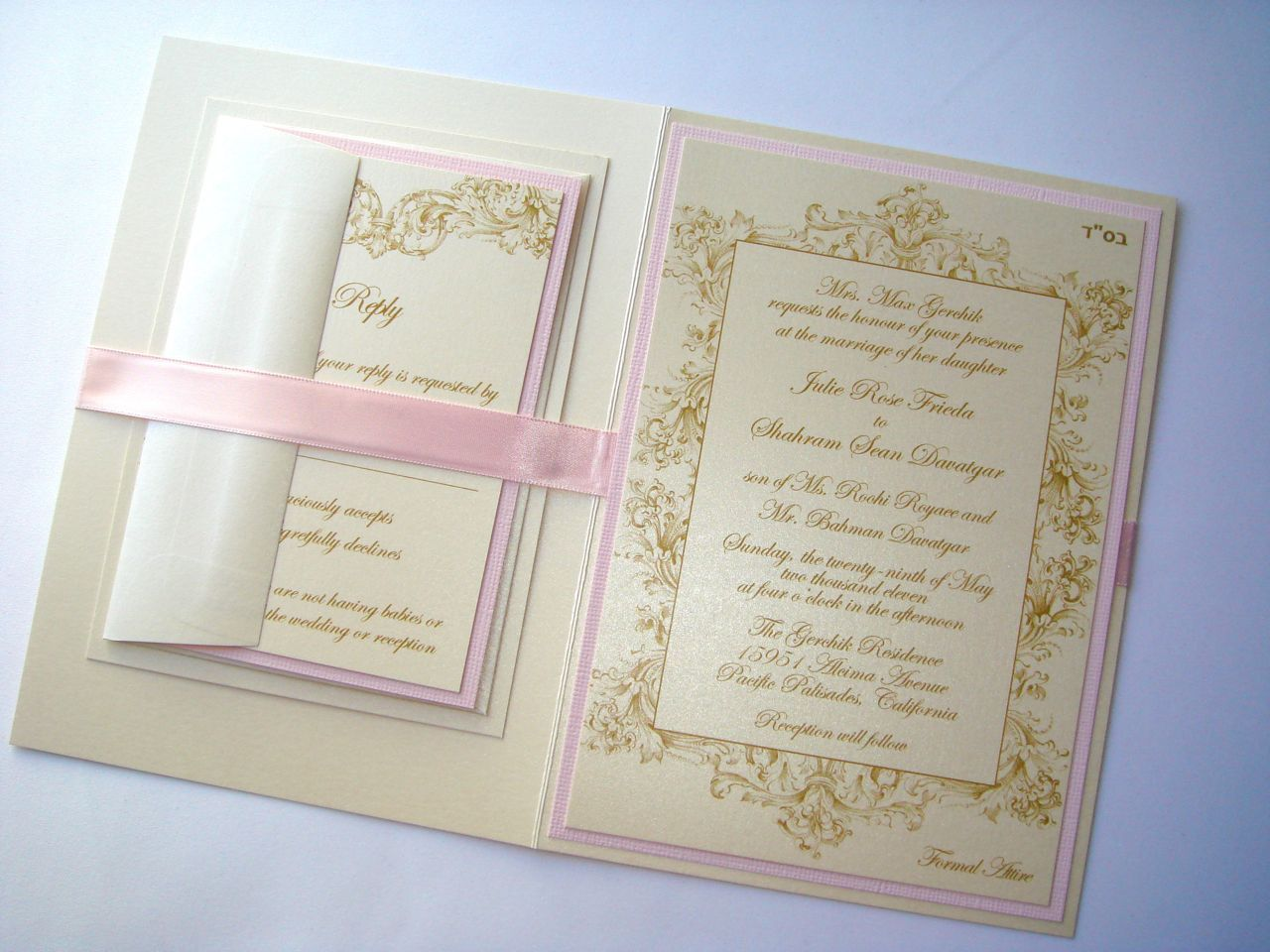 Embellished Paperie Vintage Champagne Gold and Blush