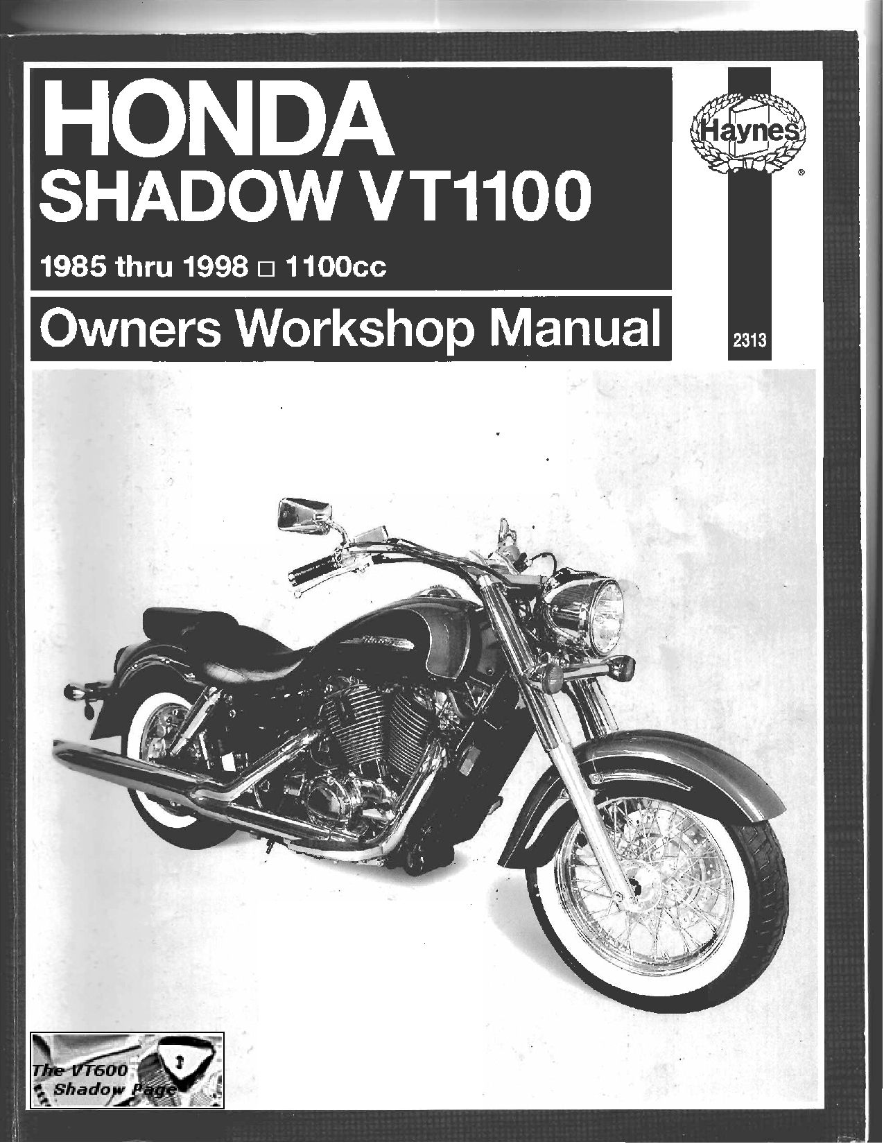 Honda Vt 1100 1985 1998 Repair Manual Pdf Download