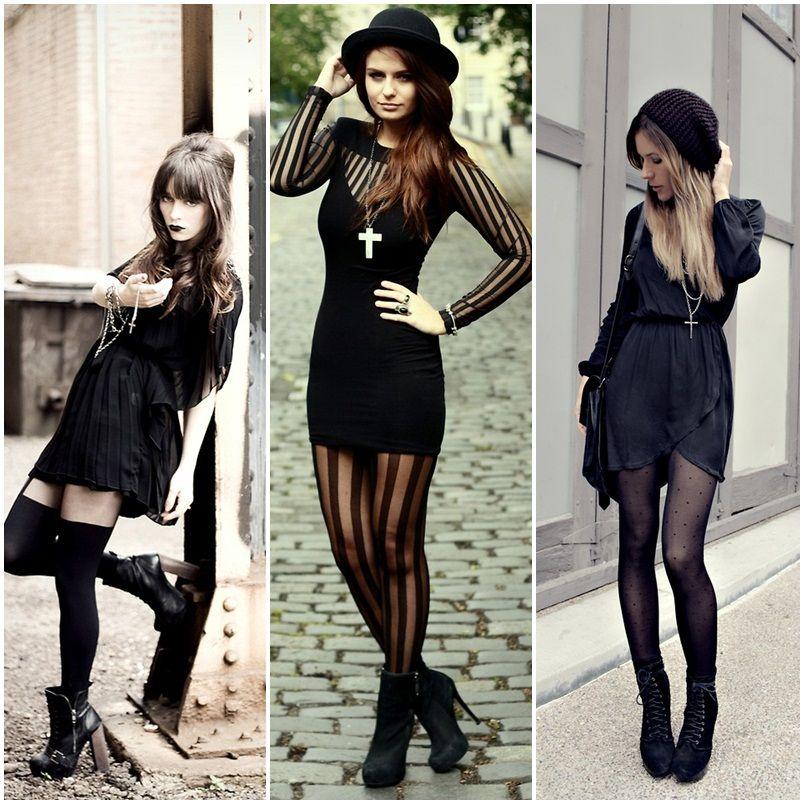 Que sexy esta forma de lucir la tendencia Gothic Glam!