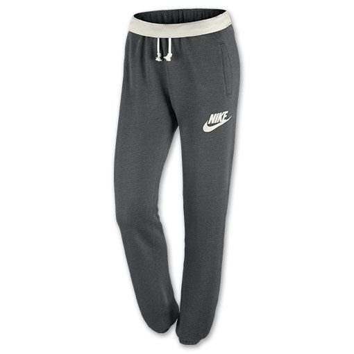 Women's Nike Rally Loose Pants| FinishLine.com | Charcoal Heather/Sail