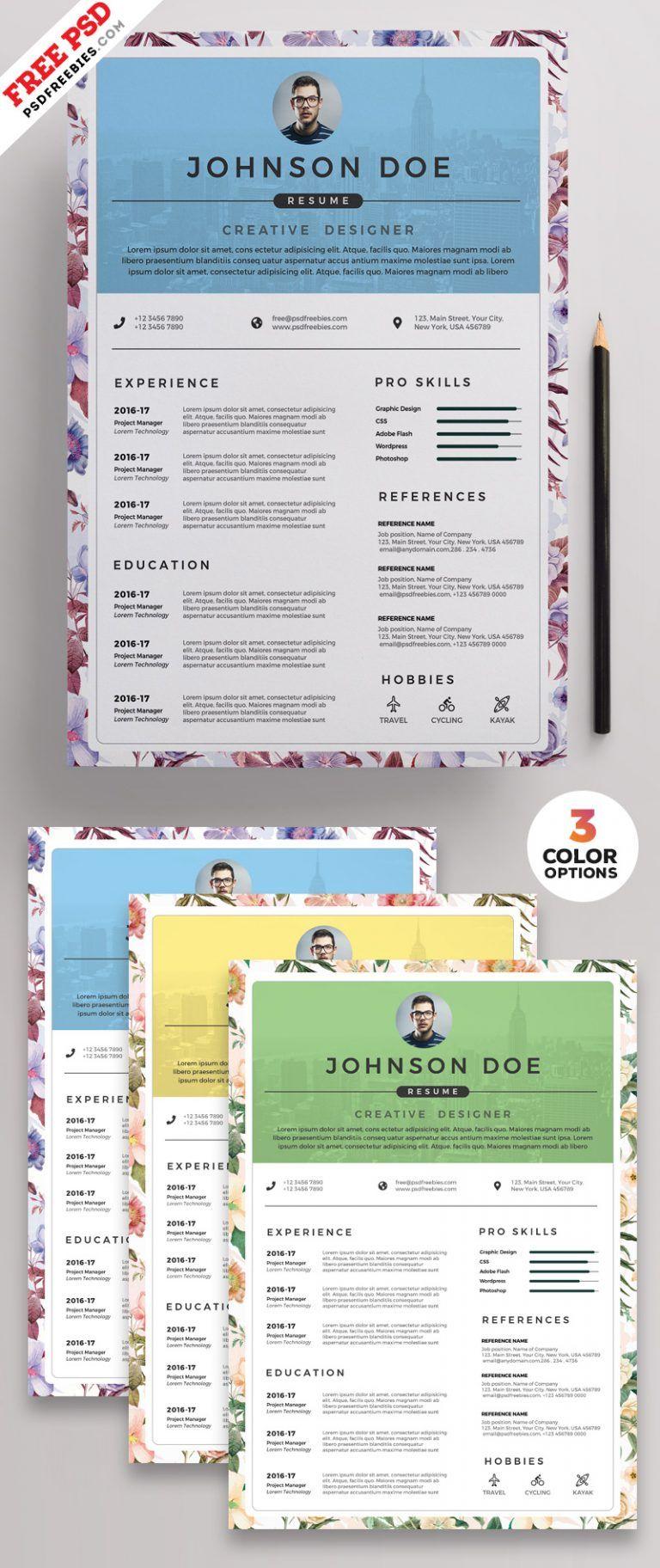 PSD Clean Resume CV Design Templates Cv design template