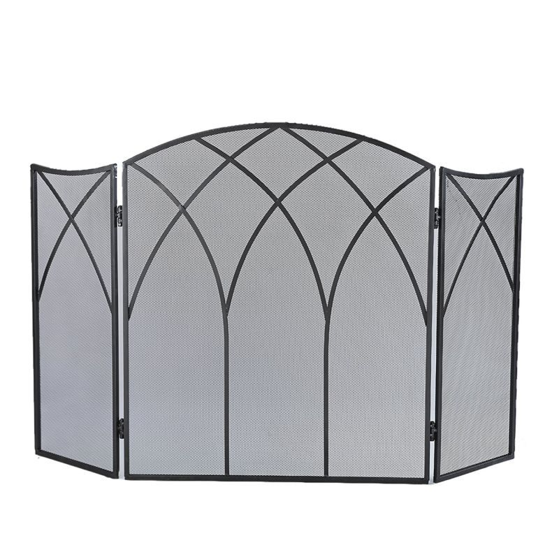 Pleasant Hearth 633 Gothic Three Panel Fireplace Screen 465quot; L
