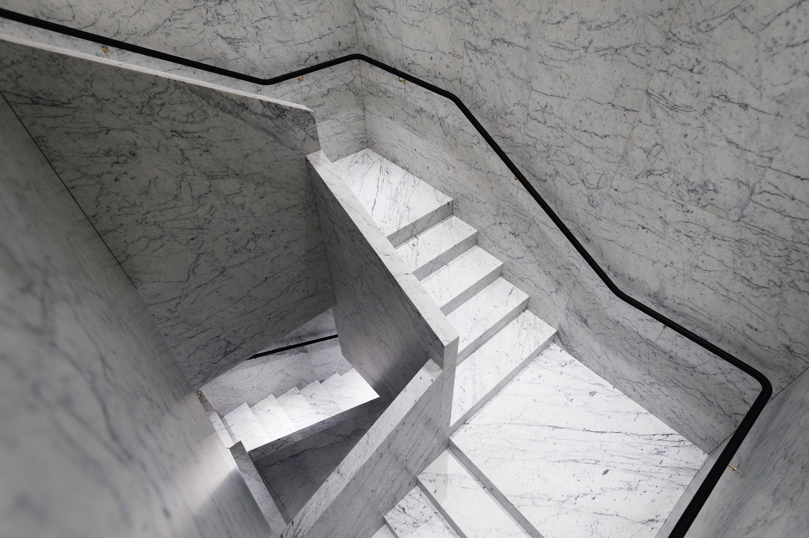 One of the two main marble staircases in classic David Chipperfield for Valentino style. www.valentino.com