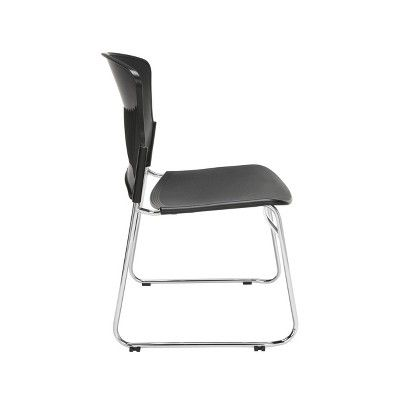 Set Of 4 Core Collection Plastic Stack Chair Black Ofm Chair