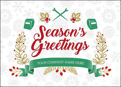 ironworker snowflake christmas card glossy white 2623 christmas