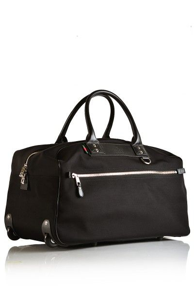 ae7f4989e Gucci- Black Trolley Travel Bag #Gucci #Trolleys | Men's | Bags ...