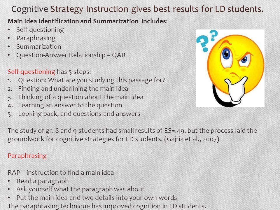 Image Result For Cognitive Strategy Instruction Inclusion Teacher