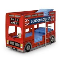london bus kids bunk bed kids beds bus double decker retro london interior design. Black Bedroom Furniture Sets. Home Design Ideas