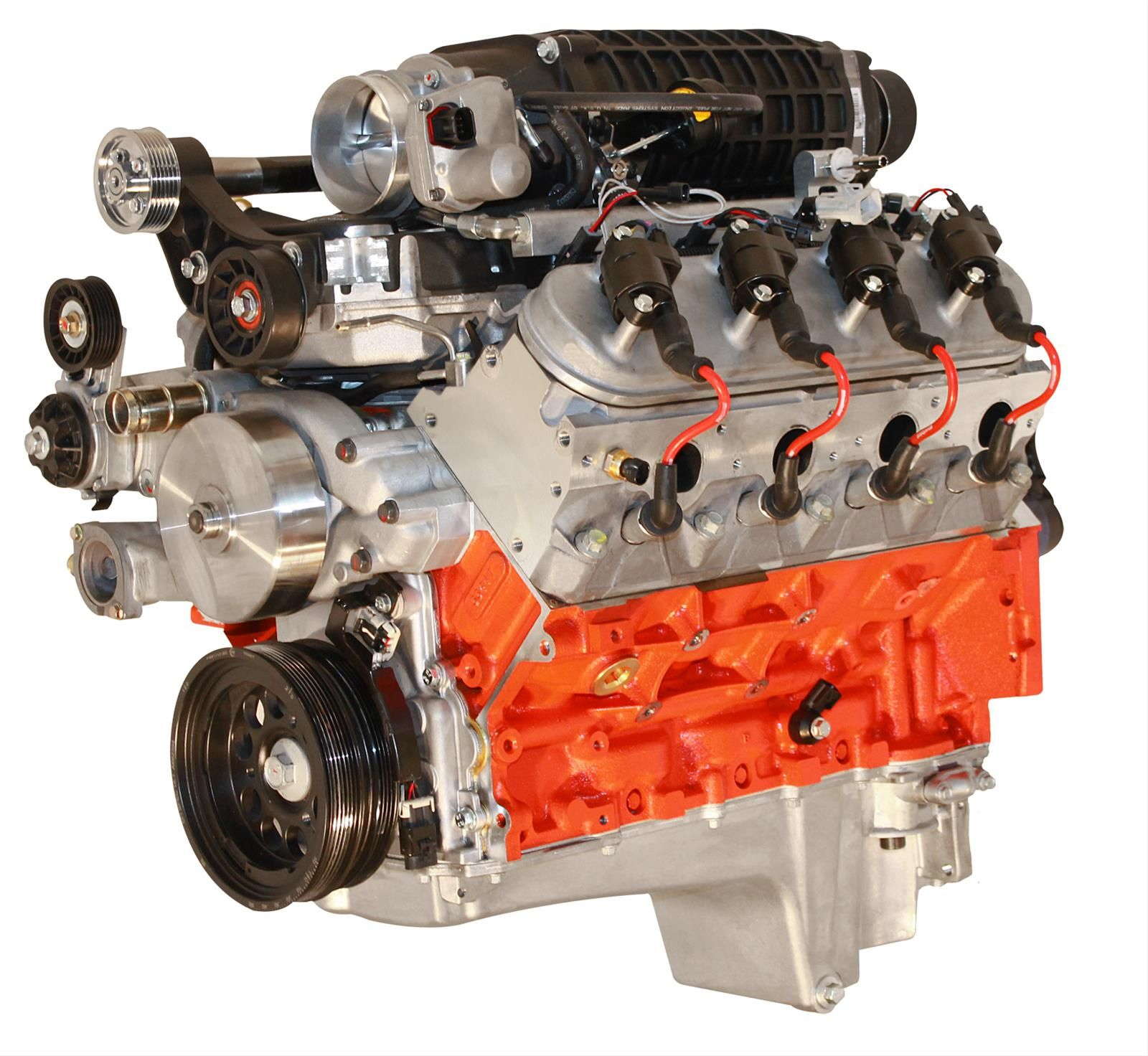 Blueprint engines pro series chevy ls 427 c i d 750 hp supercharged fuel injected crate engines psls4272sct