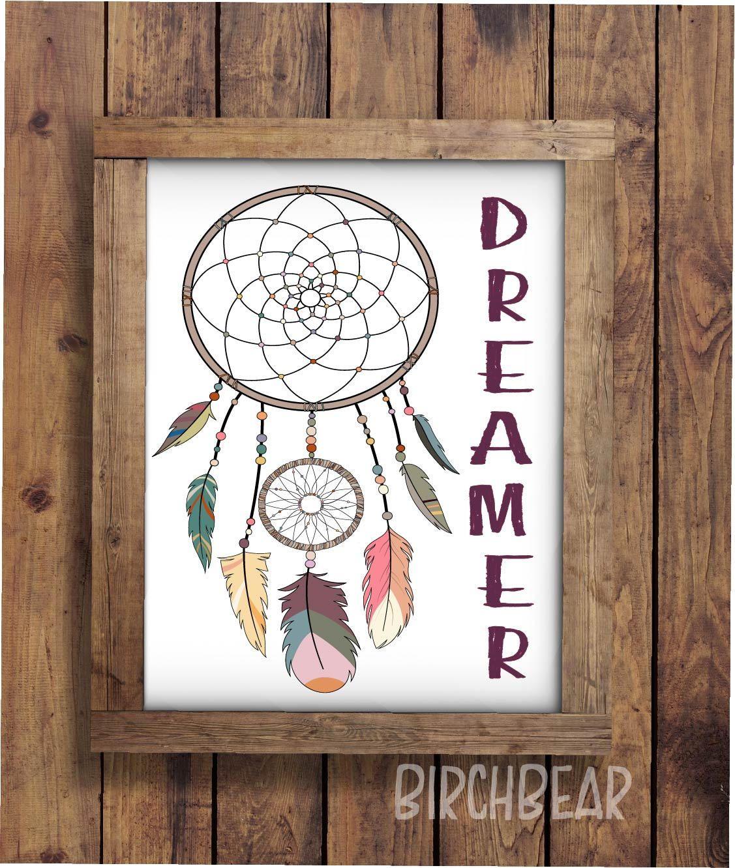 Dreamer dream catcher girls nursery nursery wall art girls room