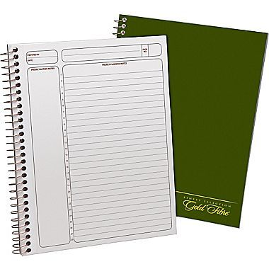 Ampad Gold Fibre Project Planner 7 25 X 9 5 Cornell Ruled 84 Sheets Green 20 816 Staples Project Planner Planner Writing Pad