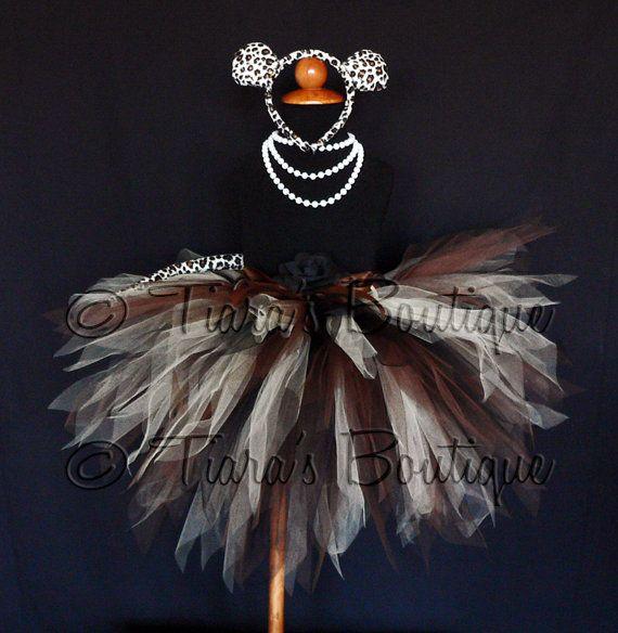 Luxurious Leopard Tutu Costume Brown Black Beige by TutuTiara