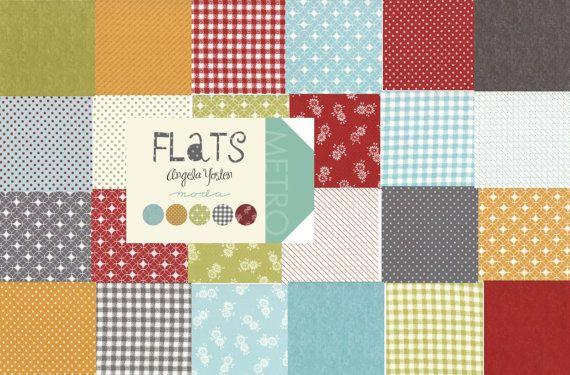 Flats Moda Quilt Fabric Moda Charm Pack 42 squares 5 x 5