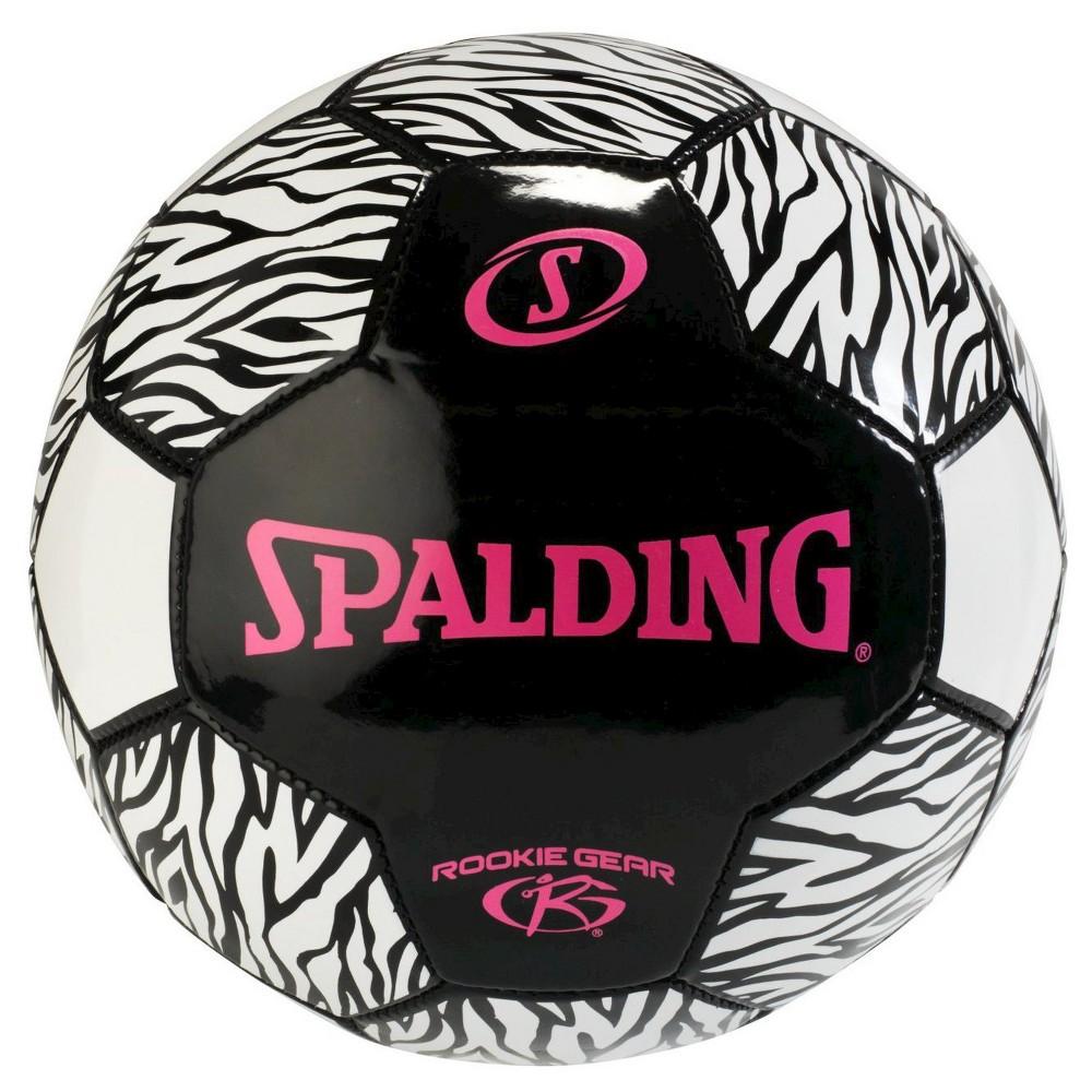 Spalding Rookie Gear Soccer - Pink/Black (size 3),