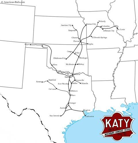 The Missouri-Kansas-Texas Railroad, The Katy | The KATY ... on northwestern pacific railroad map, arizona & california railroad map, central pacific railroad map, loram railroad map, new haven railroad map, ontario northland railroad map, texas railroad map, jersey central railroad map, union pacific railroad map, florida east coast railroad map, penn central railroad map, the underground railroad map, cotton production 1860 map, long island railroad map, sp railroad map, frisco railroad map, chicago & northwestern railroad map, buffalo & pittsburgh railroad map, cancer belt map, parchman farm mississippi map,