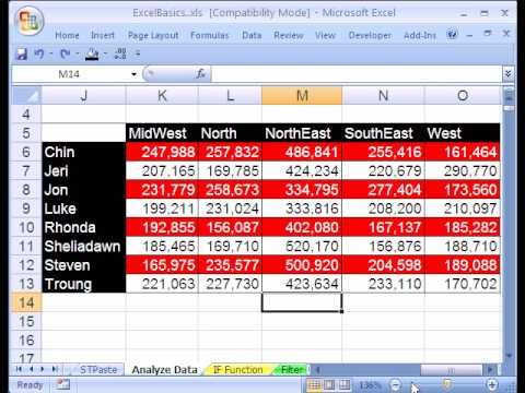 Excel Basics #20 Data Analysis Pivot Tables PivotTables Tech \